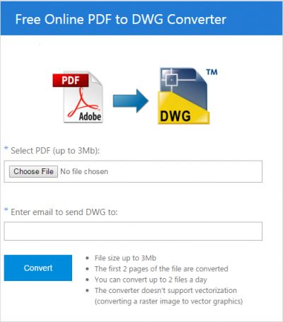 Free Online PDF to DWG Converter - Review