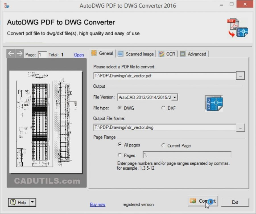 Pdf convert to any dwg