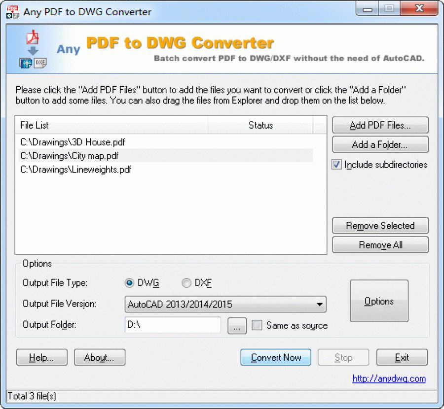 Any pdf to dwg converter for Dwg to kmz converter